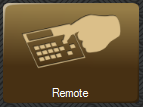 Remote menu button